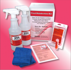 Picture of our viral disinfection kit.